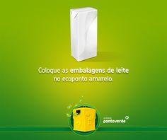Pacotes de leite devem ser colocados no ecoponto amarelo. Não se esqueça de espalmar para ocuparem menos espaço!