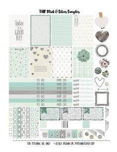 My Planner Envy: Mint & Silver Sampler - Free Planner Printable