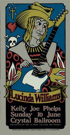 Lucinda Williams - concert poster by Gary Houston