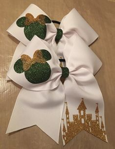 A personal favorite from my Etsy shop https://www.etsy.com/listing/573584575/disney-cheer-bow