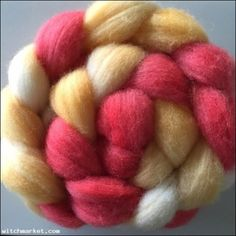 4 oz Cherry Taffy USA Domestic Top Wool Roving Spinning Felting SCA REN  $9.99