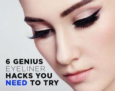 6 Genius Eyeliner Hacks You NEED To Try http://www.womenshealthmag.com/beauty/eyeliner-hacks
