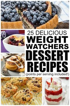Trying to lose weight but can't stand the idea of living a life without dessert? NO WORRIES! This collection of 25 weight watchers recipes with points is filled with dessert recipes that will satisfy your craving without ruining your diet. Dessert Weight Watchers, Weight Watcher Dinners, Weight Watchers Chicken, Ww Desserts, Healthy Desserts, Dessert Recipes, Healthy Recipes, No Calorie Foods, Ww Recipes