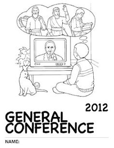 "2012 General Conference: Nursery Activity Packet SOOOO CUTE!  For children 18 mo- 3 yrs  GOOD TO SAVE FOR LATER AS THIS CAN BE USED FOR ANY GENERAL CONFERENCE!  Includes a cute little ""out of the mouth of babes"" interview you can do with your kids."
