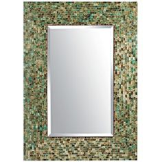 Ocean Mosaic Mirror- In Master Bathroom.  OK, ok it looks like Pier ! threw-up at our new condo.  Can I help it that they make beautiful stuff!