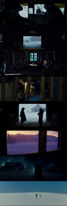The Hateful Eight(2015) Directed by Quentin Tarantino Cinematography by Robert Richardson