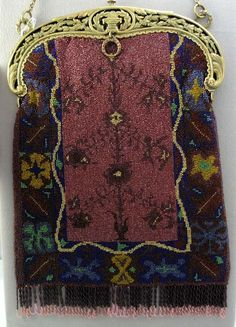 vintage micro beaded purse