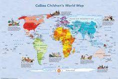 World Maps - Children's Map Wall Art Poster
