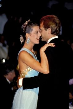 """Caroline of Monaco...and husband, Stefano Casiraghi...in """"younger"""" years..."""