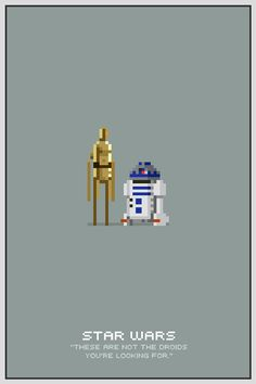 Star Wars Pixel Posters by Michael Myers