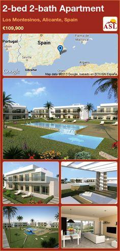 2-bed 2-bath Apartment in Los Montesinos, Alicante, Spain ►€109,900 #PropertyForSaleInSpain