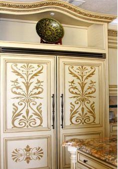 20 diy cabinet door makeovers with furniture stencils | diy