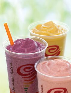 Juice at Jamba Juice on **Update, don't forget that this deal is tomorrow! Head on over to Jamba Juice on between & to Jamba Juice Recipes, Vitamix Recipes, Smoothie Recipes, Menu Secret, Secret Menu Items, Top Secret Recipes, Refreshing Drinks, Yummy Drinks, Yummy Food