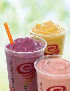 6 Jamba Juice Copycat Recipes! -- [Includes: Banana Berry, Orange-A-Peel, Cranberry Craze, Citrus Squeeze, Peach Pleasure, and Strawberries Wild.]