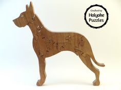Great Dane wooden jigsaw puzzle by HolyokePuzzles on Etsy