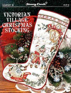 Victorian Village Christmas Stocking by Stoney Creek - Cross Stitch Kits & Patterns