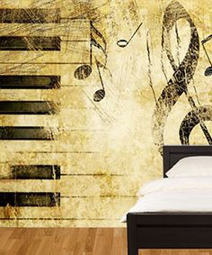 Is it cheating if you purchase a mural? We say no! Check out this website. Not everyone can be or can hire a professional painter  #piano #room #mural #decor