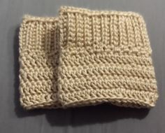 Cream Boot Cuffs