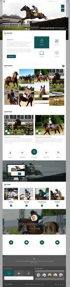 Wise is Multi-Concept Bootstrap HTML Template for multipurpose #website. It has 7 stunning homepage layouts and amazing features. #equestrian #horse  Download Now!