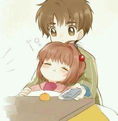 Sakura se durmió y pororo se durmió hacia su lado