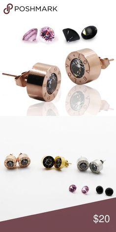 Love ❤️Earrings Trendy Fashion Crystal Zircon Love Stud Earring. Stainless Steel,  Luxury Style! Jewelry Earrings