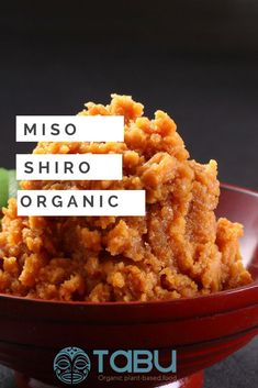 Weight: package Shiro miso: Soya bean paste with rice. Shiro miso, a 6 months fermented soy food, is softer and more creamy in taste as the other miso pastes. It is ideal to use for sauces and dressings. Vegan Appetizers, Vegan Snacks, Vegan Dinners, Breakfast Bowls, Vegan Breakfast, Sea Vegetables, Bean Paste, Vegan Soups, Fermented Foods