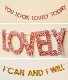 glitter garlands @LovelyIndeed