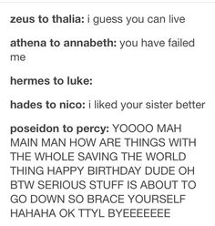 Poseidon and Percy's relationship compared to other demigod's.