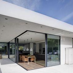 Villa De Bruin Utrecht Metaglas 1 hoekschuifpui verzonken