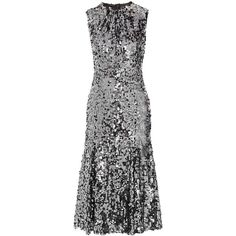 Dolce & Gabbana Sequined tulle midi dress (206.405 RUB) ❤ liked on Polyvore featuring dresses, vestido, fitted dresses, sequin dresses, tulle cocktail dress, fitted midi dress and midi skater skirt