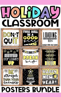 Make decorating your classroom for all the major holidays easy with this holiday classroom posters bundle! Just print and display on your bulletin board, classroom door, or anywhere on your classroom walls! High School Classroom, Classroom Walls, Classroom Posters, Kindergarten Classroom, Seasonal Decor, Holiday Decor, Major Holidays, Bulletin Board, Seasons