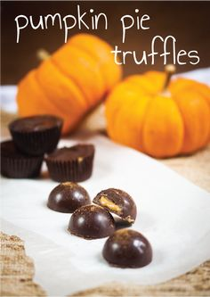 Adorn your dessert table with these Pumpkin Pie Truffles this Thanksgiving.