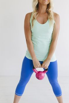 The Mint Love Racer and Cobalt Go Capris | #albionfit #workout
