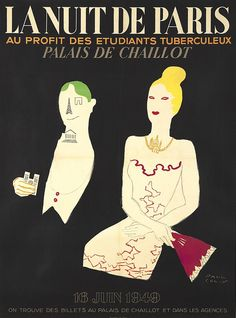 Poster by Paul Colin (1892-1985), 1949, La nuit de Paris, gala for the benefit of students suffering from tuberculosis. (F)