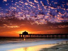 Sunset, Hemosa Beach, California