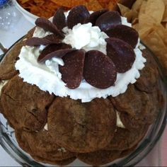 """Chocolate chip cookie cake with chocolate """"chips"""" from TJ's Chocolate Chip Cookie Cake, Cookie Cakes, Chocolate Chips, Homemade Food, Muffin, Baking, Breakfast, Morning Coffee, Bakken"""