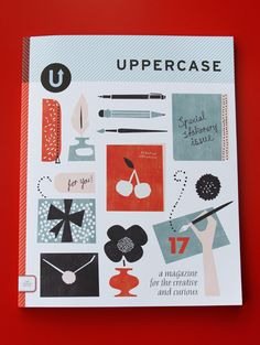 We're a HUGE fan (& now a Stockist) of uppercase mag! It's quarterly & filled w/all sorts of creative info. Love:) Look for next issue on our shelves.