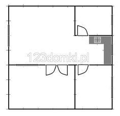 Domek letniskowy 8×7 – Producent domów i domków drewnianych letniskowych Floor Plans, Floor Plan Drawing, House Floor Plans