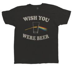 31c966fb2 Amazon.com  Brew City Promotions Wish You Were Beer Black Mens Black S   Clothing