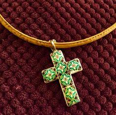 Beautiful Reversible cross, with Portuguese Tile Replica. de LasJoyitasDeMarie en Etsy