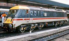 """Badger"" 89001 electric locomotive for InterCity in UK Electric Locomotive, Diesel Locomotive, Steam Locomotive, Rail Transport, London Transport, Flying Scotsman, Locs, High Speed Rail, Liverpool Street"