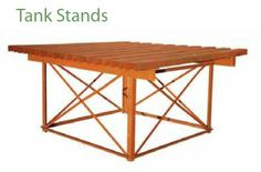 pre-fab steel water tank stand (I'm surprised how short it is) Steel Water Tanks, Tank Stand, Water Storage Tanks, Pond Waterfall, Tank Design, Water Tower, Picnic Table, Outdoor Furniture, Outdoor Decor
