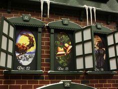 Christmas Advent House Calendar   Advent house, Christmas houses ...