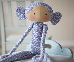 "Monkey - from upcoming book, ""Tilda's Toy Box"""