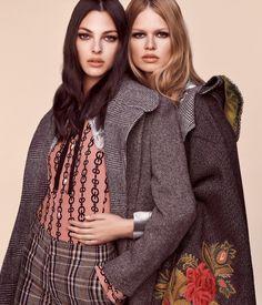Vogue Japan September 2017 Anna Ewers and Vittoria Ceretti photographed by Luigi & Iango | fashion editorial fashion photography