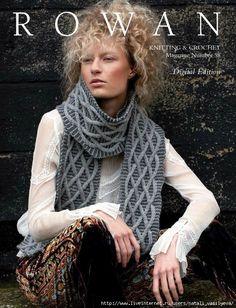 "Photo from album ""Rowan 2015 Knitting & Crochet Magazine"" on Yandex. Rowan Knitting, Vogue Knitting, Knitting Books, Crochet Books, Knitting Stitches, Knitting Yarn, Knit Crochet, Knitting Magazine, Crochet Magazine"