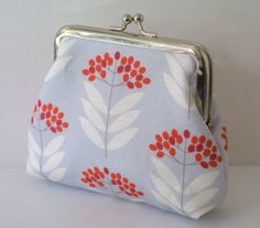 Elderberry purse in Pale Blue by ThirtyfiveFlowers on Etsy, £16.00