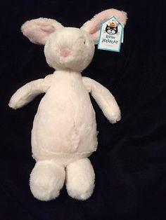 Jellycat Medium Noodle Rabbit Plush Stuffed Toy Stuffie 9 Inches New