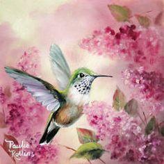 Dainty in Pink by PaulieRollins on DeviantArt Watercolor Hummingbird, Hummingbird Art, Watercolor Bird, Very Beautiful Flowers, Beautiful Birds, Chicken Painting, Wildlife Art, Art Portfolio, Beautiful Paintings