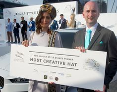 Benedetta Leone wins the prize for Most Creative Hat on Dubai World Cup day 2015 Dubai World, Jaguar, World Cup, Competition, Hat, Creative, Style, Chip Hat